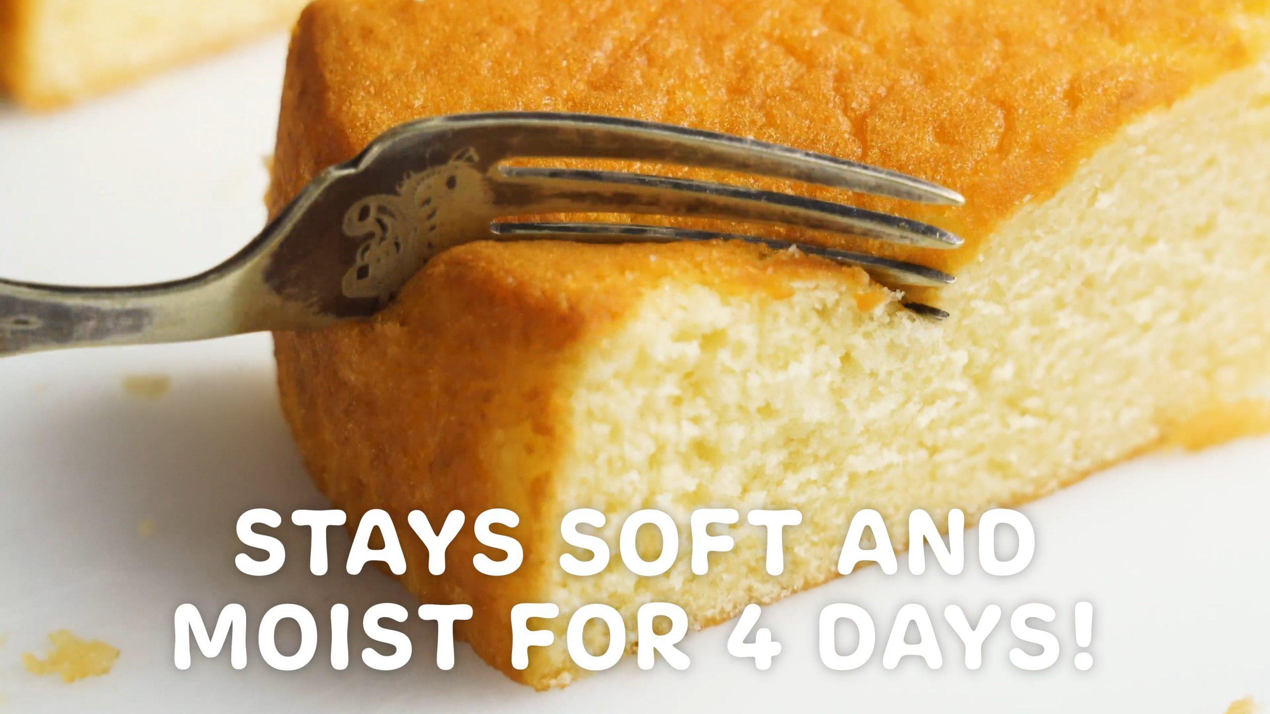 My very best Vanilla Cake (stays moist 4 days!)
