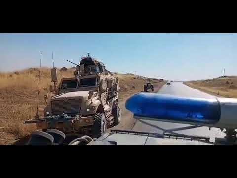 Russian BTR-82A rams U.S. armoured vehicle in Syria