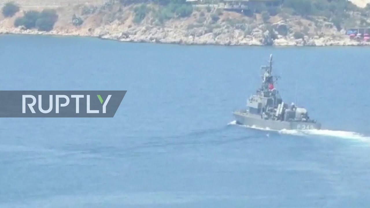 Turkish missile-carrying fast attack craft seen close to Greek island