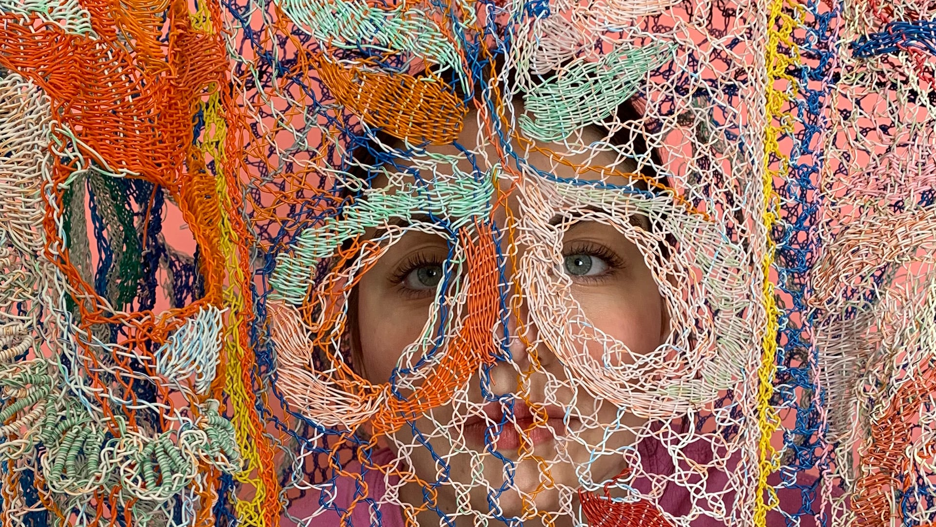 Alexandra Sipa weaves discarded electrical wires together like lace for graduate fashion collection