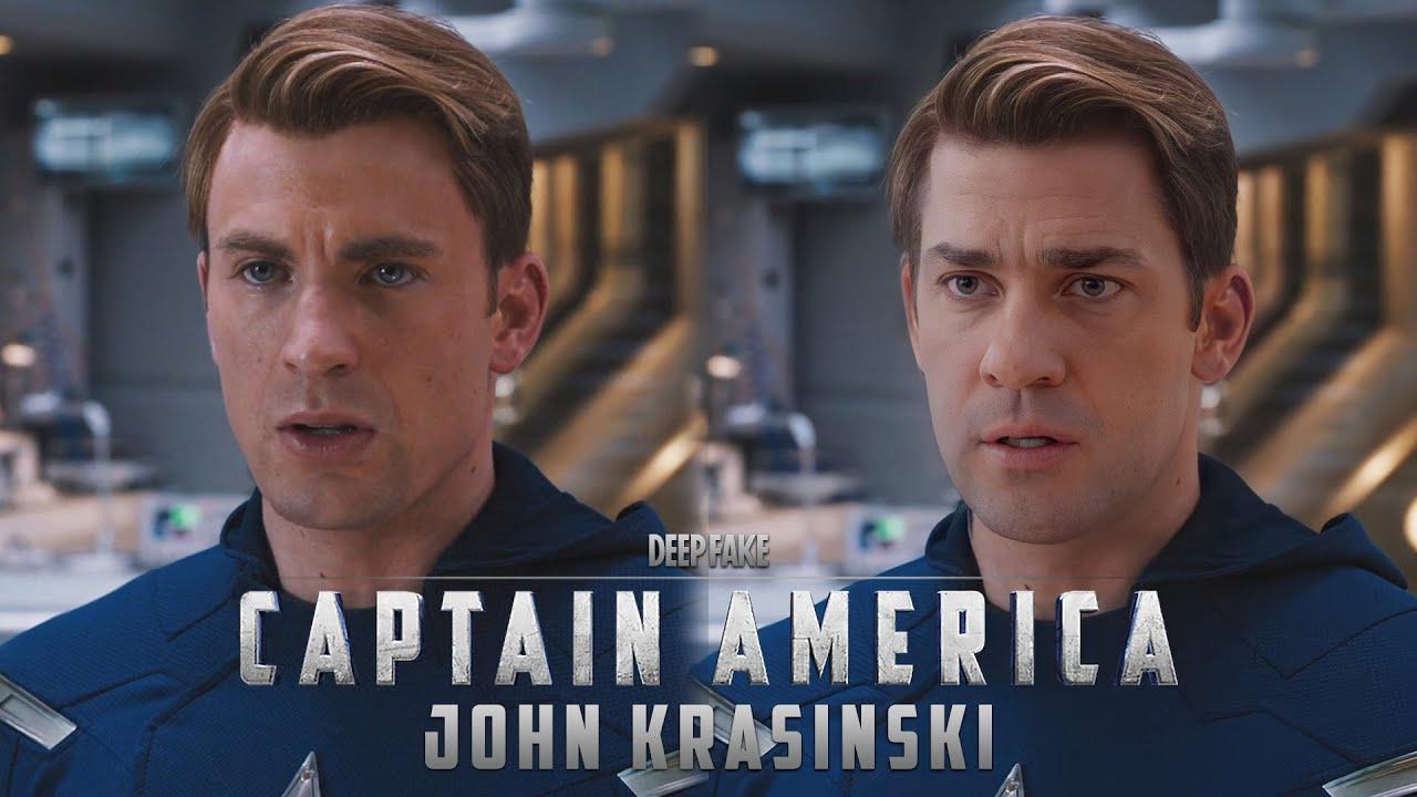 This wild 'Avengers' deepfake imagines John Krasinski as Captain America