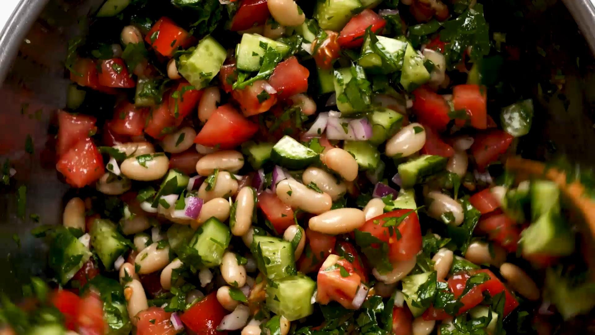 White Bean Tabbouleh Salad